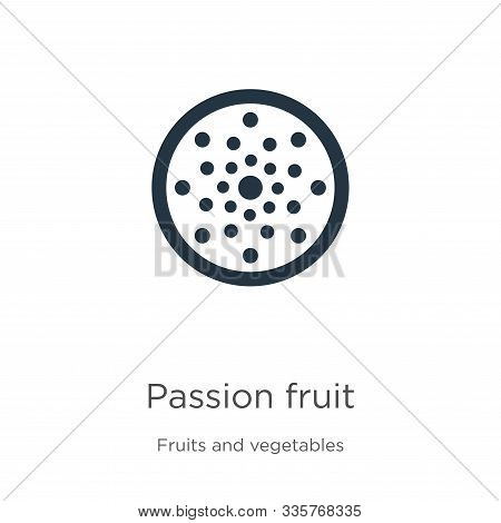 Passion Fruit Icon Vector. Trendy Flat Passion Fruit Icon From Fruits Collection Isolated On White B