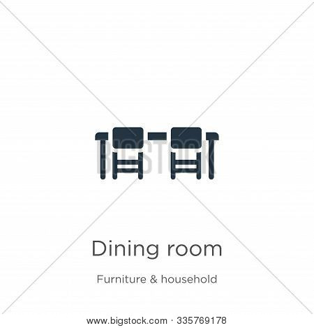 Dining Room Icon Vector. Trendy Flat Dining Room Icon From Furniture And Household Collection Isolat