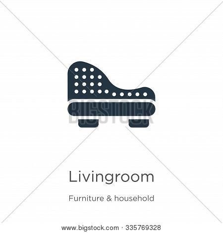Livingroom Icon Vector. Trendy Flat Livingroom Icon From Furniture And Household Collection Isolated