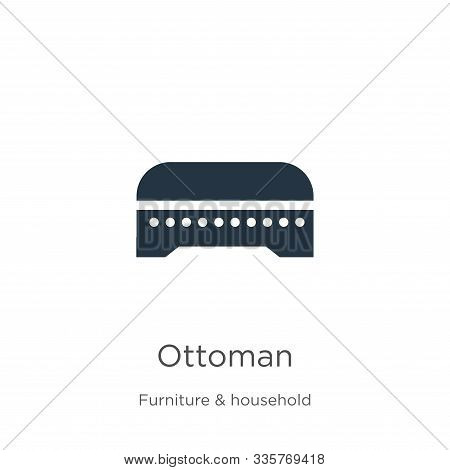 Ottoman Icon Vector. Trendy Flat Ottoman Icon From Furniture And Household Collection Isolated On Wh