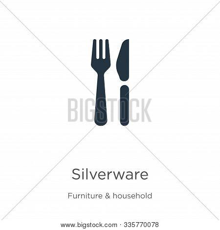 Silverware Icon Vector. Trendy Flat Silverware Icon From Furniture And Household Collection Isolated
