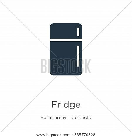 Fridge Icon Vector. Trendy Flat Fridge Icon From Furniture Collection Isolated On White Background.