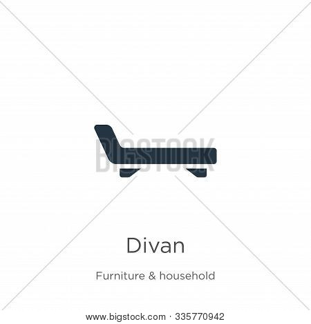 Divan Icon Vector. Trendy Flat Divan Icon From Furniture Collection Isolated On White Background. Ve