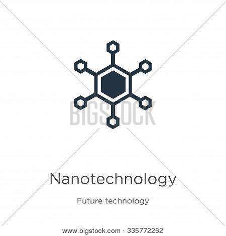 Nanotechnology Icon Vector. Trendy Flat Nanotechnology Icon From Future Technology Collection Isolat