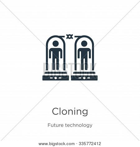 Cloning Icon Vector. Trendy Flat Cloning Icon From Future Technology Collection Isolated On White Ba