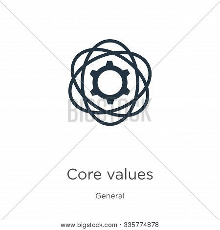Core Values Icon Vector. Trendy Flat Core Values Icon From General Collection Isolated On White Back