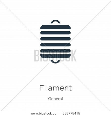 Filament Icon Vector. Trendy Flat Filament Icon From General Collection Isolated On White Background