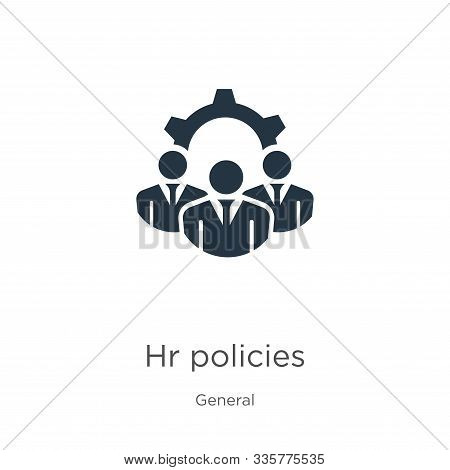 Hr Policies Icon Vector. Trendy Flat Hr Policies Icon From General Collection Isolated On White Back
