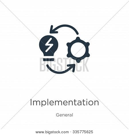 Implementation Icon Vector. Trendy Flat Implementation Icon From General Collection Isolated On Whit