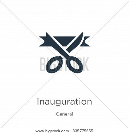 Inauguration Icon Vector. Trendy Flat Inauguration Icon From General Collection Isolated On White Ba