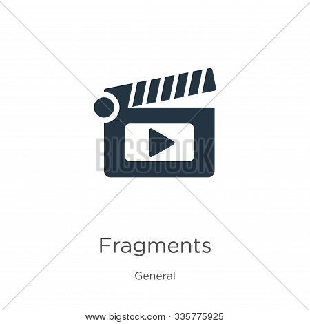 Fragments Icon Vector. Trendy Flat Fragments Icon From General Collection Isolated On White Backgrou