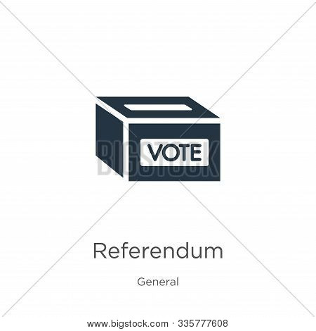 Referendum Icon Vector. Trendy Flat Referendum Icon From General Collection Isolated On White Backgr