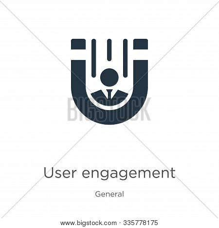 User Engagement Icon Vector. Trendy Flat User Engagement Icon From General Collection Isolated On Wh