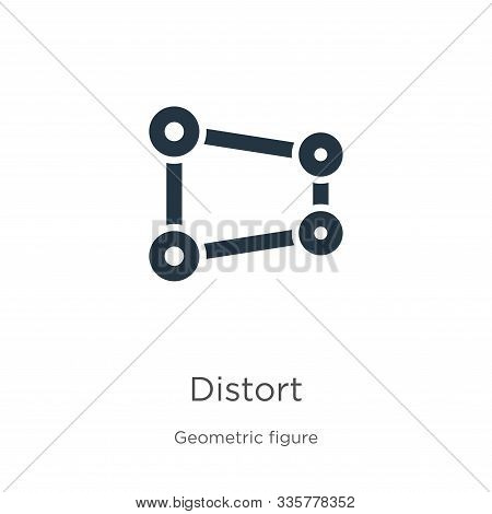 Distort Icon Vector. Trendy Flat Distort Icon From Geometric Figure Collection Isolated On White Bac