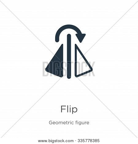 Flip Icon Vector. Trendy Flat Flip Icon From Geometric Figure Collection Isolated On White Backgroun