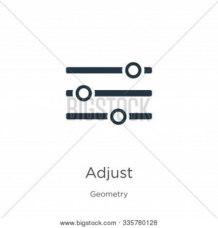 Adjust Icon Vector. Trendy Flat Adjust Icon From Geometry Collection Isolated On White Background. V