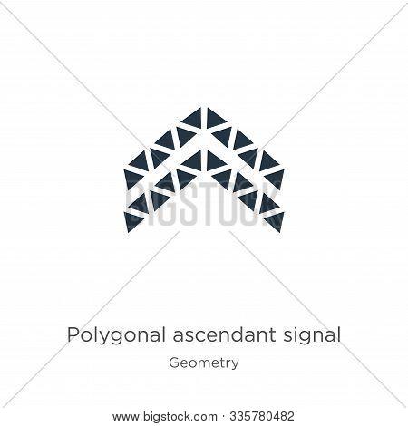 Polygonal Ascendant Signal Icon Vector. Trendy Flat Polygonal Ascendant Signal Icon From Geometry Co