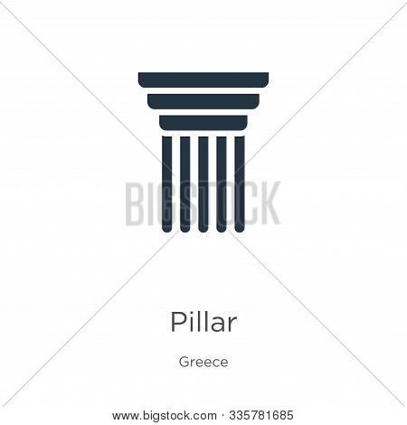 Pillar Icon Vector. Trendy Flat Pillar Icon From Greece Collection Isolated On White Background. Vec