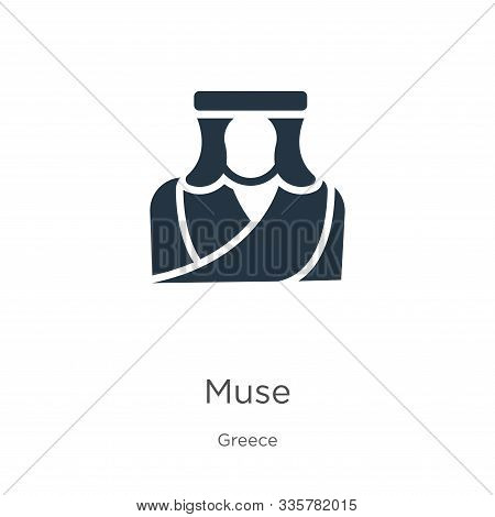 Muse Icon Vector. Trendy Flat Muse Icon From Greece Collection Isolated On White Background. Vector