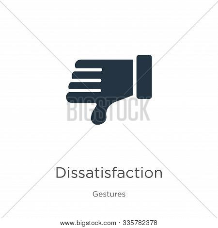 Dissatisfaction Icon Vector. Trendy Flat Dissatisfaction Icon From Gestures Collection Isolated On W