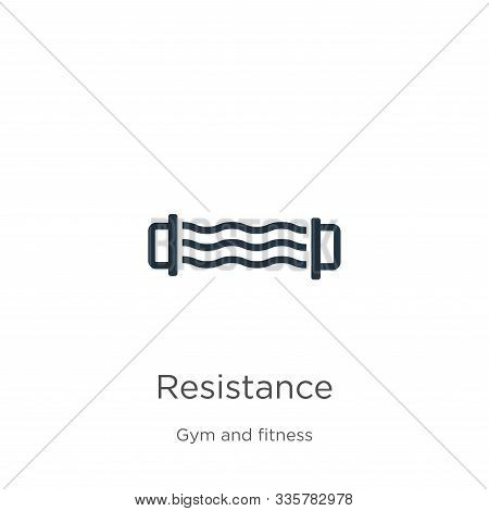 Resistance Icon Vector. Trendy Flat Resistance Icon From Gym And Fitness Collection Isolated On Whit