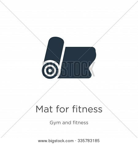 Mat For Fitness Icon Vector. Trendy Flat Mat For Fitness Icon From Gym And Fitness Collection Isolat
