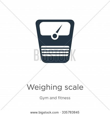 Weighing Scale Icon Vector. Trendy Flat Weighing Scale Icon From Gym And Fitness Collection Isolated