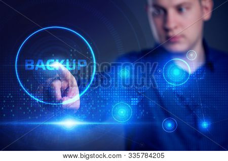 Business, Technology, Internet And Network Concept. Backup Storage Data Internet Technology.