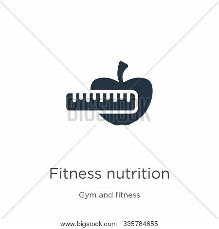 Fitness Nutrition Icon Vector. Trendy Flat Fitness Nutrition Icon From Gym And Fitness Collection Is
