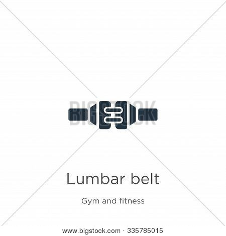Lumbar Belt Icon Vector. Trendy Flat Lumbar Belt Icon From Gym And Fitness Collection Isolated On Wh