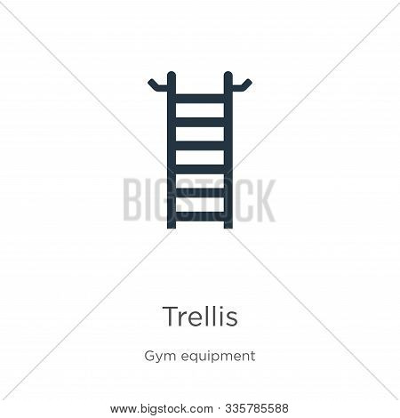 Trellis Icon Vector. Trendy Flat Trellis Icon From Gym Equipment Collection Isolated On White Backgr