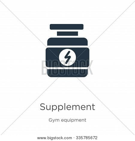 Supplement Icon Vector. Trendy Flat Supplement Icon From Gym And Fitness Collection Isolated On Whit