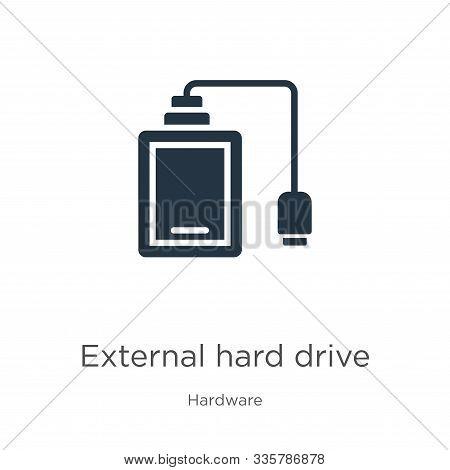 External Hard Drive Icon Vector. Trendy Flat External Hard Drive Icon From Hardware Collection Isola