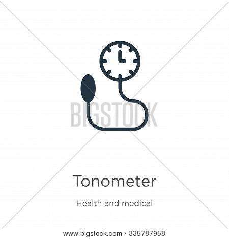 Tonometer Icon Vector. Trendy Flat Tonometer Icon From Health And Medical Collection Isolated On Whi
