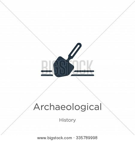 Archaeological Icon Vector. Trendy Flat Archaeological Icon From History Collection Isolated On Whit
