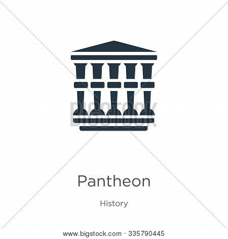 Pantheon Icon Vector. Trendy Flat Pantheon Icon From History Collection Isolated On White Background