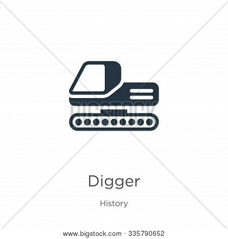 Digger Icon Vector. Trendy Flat Digger Icon From History Collection Isolated On White Background. Ve
