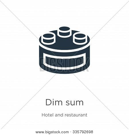 Dim Sum Icon Vector. Trendy Flat Dim Sum Icon From Hotel And Restaurant Collection Isolated On White