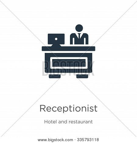 Receptionist Icon Vector. Trendy Flat Receptionist Icon From Hotel And Restaurant Collection Isolate