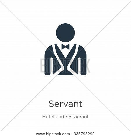 Servant Icon Vector. Trendy Flat Servant Icon From Hotel And Restaurant Collection Isolated On White