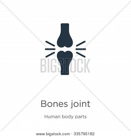 Bones Joint Icon Vector. Trendy Flat Bones Joint Icon From Human Body Parts Collection Isolated On W
