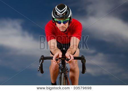 cyclist on a racebike