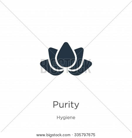 Purity Icon Vector. Trendy Flat Purity Icon From Hygiene Collection Isolated On White Background. Ve
