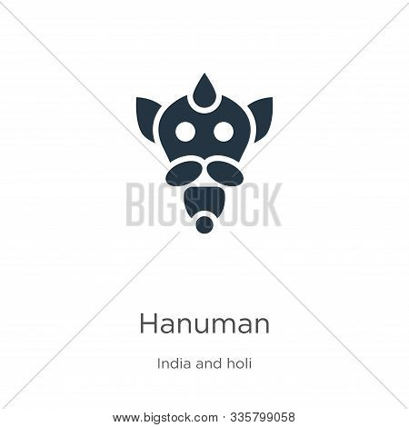 Hanuman Icon Vector. Trendy Flat Hanuman Icon From India Collection Isolated On White Background. Ve