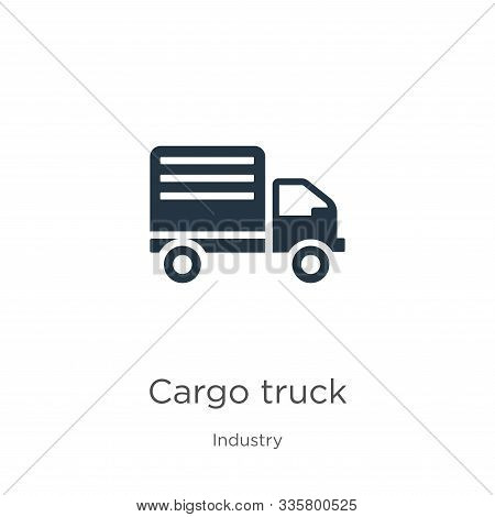 Cargo Truck Icon Vector. Trendy Flat Cargo Truck Icon From Industry Collection Isolated On White Bac
