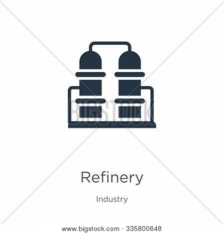 Refinery Icon Vector. Trendy Flat Refinery Icon From Industry Collection Isolated On White Backgroun