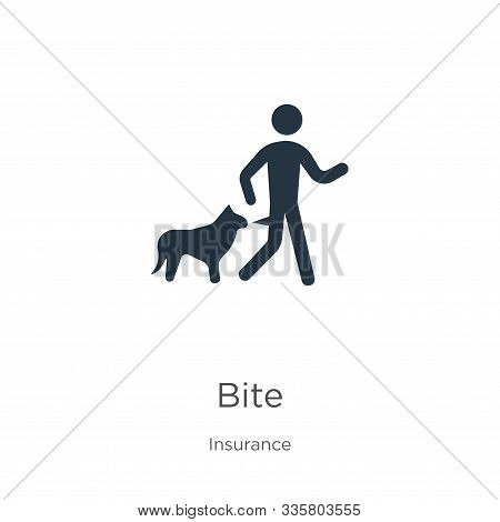 Bite Icon Vector. Trendy Flat Bite Icon From Insurance Collection Isolated On White Background. Vect