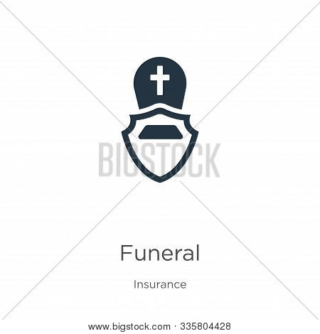 Funeral Icon Vector. Trendy Flat Funeral Icon From Insurance Collection Isolated On White Background