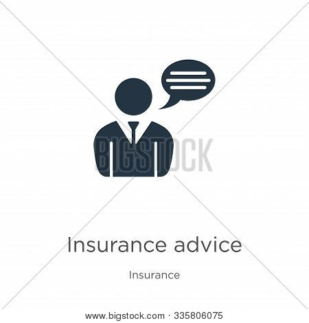 Insurance Advice Icon Vector. Trendy Flat Insurance Advice Icon From Insurance Collection Isolated O