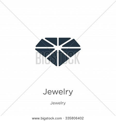 Jewelry Icon Vector. Trendy Flat Jewelry Icon From Jewelry Collection Isolated On White Background.